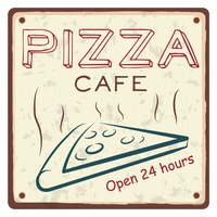 Pizza cafe sticker