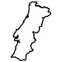 Outline Outlines Linear Art Minimalism Minimal Basic Basics Line - Portugal map outline