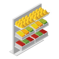 Popular : Racks with fruits