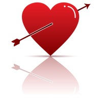 Popular : Red heart with arrow