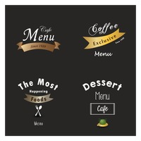 Restaurant menu design set