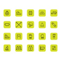 Set of adventures icons
