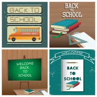 Set of back to school wallpapers