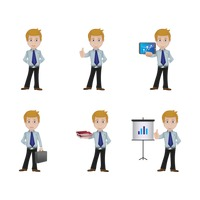 Set of businessman icons