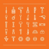 Set of construction icons