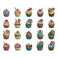 Set of cupcake collection