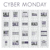 Set of cyber monday sale wallpapers