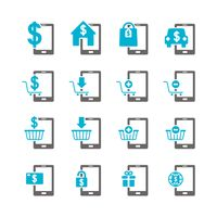Set of e-payment icons