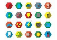 Popular : Set of electric icons