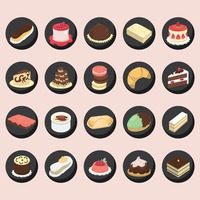 Popular : Set of french pastries