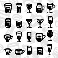 Set of glassware icons