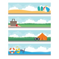 Popular : Set of holiday banners