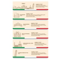 Popular : Set of italy banners