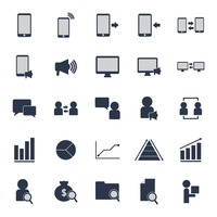 Set of marketing icons