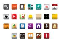Popular : Set of mobile icons