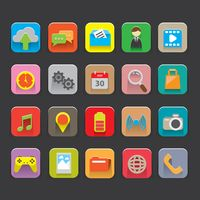 Set of mobile interface icons