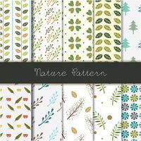 Set of nature pattern icons