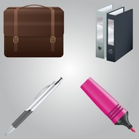 Popular : Set of office icons