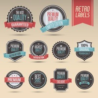 Set of retro labels