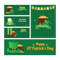 Set of saint patrick s day banners