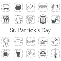 Set of saint patrick s day icons