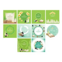 Set of spa themed template