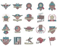 Set of usa emblems