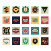 Set of vintage quality labels