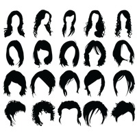 Popular : Set of woman hair styles