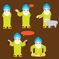 Popular : Sikh character with different actions
