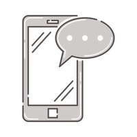Popular : Smartphone with speech bubble