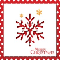 Popular : Snowflake christmas card design