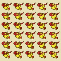 Spain bulls pattern background