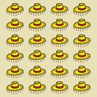 Spain hats pattern background