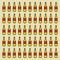 Spain wine bottles pattern background