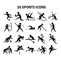 Sports player icons