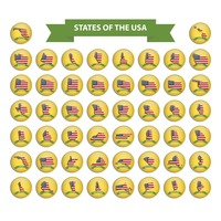 States of the usa collection