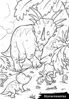 Styracosaurus with hatchlings