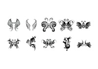 Tattoo pattern set