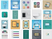 Technology icons and gadgets