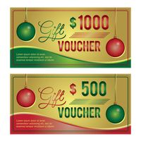 Two christmas gift vouchers