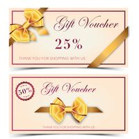 Two classic gift voucher