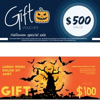 Two halloween gift vouchers