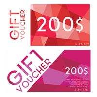 Two modern gift vouchers