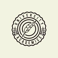 University academics logo element
