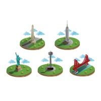 Usa famous landmarks collection