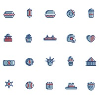 Usa symbols collection