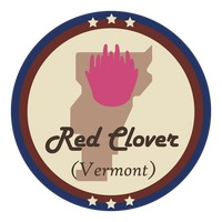 Vermont state with red clover flower