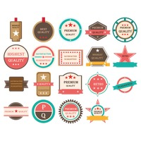 Vintage badge icons