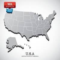 washington state on the map of usa